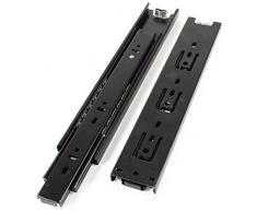 2 piezas negro 3 secciones para cajones de armarios rodamientos 25,4 cm largo