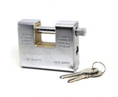 Maurer 3100190 - Candado cuadrado para persiana (acorazado, 80 mm)