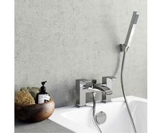 ENKI mezclador de baño cascada grifo de bañera con ducha baño cromado grifo de cascada