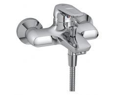 Ideal Standard B9491AA - Ceramix Azul Mixer Bath Fuera / Ducha Con Accesorios, Chrome (Ceramix Blue Monomando Ext B/D C/Kit)
