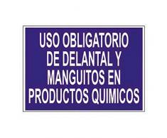 Cofan O56TPL420297 - Señal Uso obligatorio de delantal y manguitos en productos químicos
