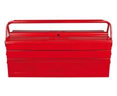 KS Tools 999.0125 - Caja de herramientas (metálica, 5 compartimentos, 530 x 210 x 200 mm)