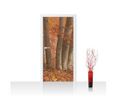 Para puerta de fieltro de papel pintado 100 x 211 cm - la parte superior de la - de las puertas de panel de fieltro de póster de papel pintado adhesivo para puerta de la decoración de imagen de la XXL para puerta de árboles de madera - no, 255