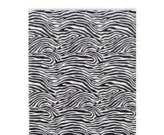 Shark 012/213061 Cortina de Ducha de Tela Poliéster, 180 x 200 cm, Color Blanco y Negro