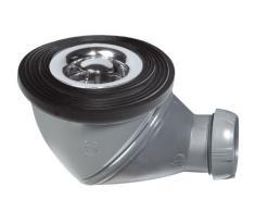 Multi plato de ducha drenaje de residuos 50 mm de diámetro de 360 grados cúpula cromado direccional