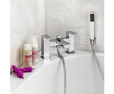 ENKI cuadrado funda mezclador de baño grifo de ducha cromado moderno grifos Milán