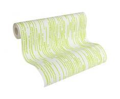 Esprit Home papel pintado de tejido-no-tejido Artisan Fall verde blanco 10,05 m x 0,53 m 302862
