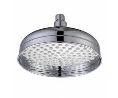 ENKI latón macizo cromado grifo termostático ducha con cabezal redondo fijo grande tradicional