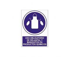 Cofan O56AD210148 - Señal Uso obligatorio de delantal y manguitos en productos químicos