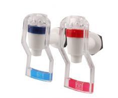 2 piezas de plástico de recambio dispensador de agua para grifo mango de empuje blanco rojo y azul