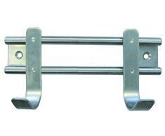 Barras de acero inoxidable con 2 HSI ropa gancho, 155 x 70 x 50 mm, 560840