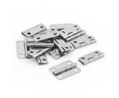 15 pcs plata tono metal Armario Cajón Puerta Butt Bisagras