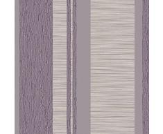 Parato Natura 2044 2044-Papel Pintado de Rayas Lavanda, Gris y Hueso