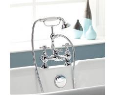 ENKI cromo grifo mezclador para bañera ducha baño tradicional victoriano Cruz BELGRAVIA