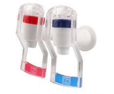 Sourcingmap a12013100ux0177 - Azul rojo 2 piezas dispensador de agua de plástico de tipo de empuje del grifo de reemplazo blanco