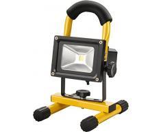 Extol Light batería 10 W portátil de lámpara LED para interior y exterior como baulicht, 1 pieza, Amarillo, 43122