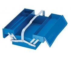 Gedore 1263 L - Caja de herramientas, vacío, 3 compartimentos, 160x420x225 mm