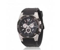 Bilyfer. Reloj analógico cronógrafo 2W412 PL negro, plata