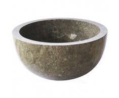 Lavabo de piedra Mármol BASTI redondo Ø40 gris