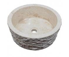 Lavabo de piedra Mármol SIRSA redondo Ø40 crema