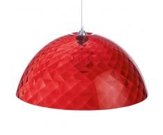 Koziol Stella Lámpara De Techo Rojo Transparente Xl