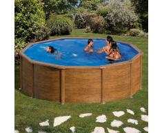 Piscinas Gre Piscina desmontable Gre Pacific circular imitación madera - Ø 350