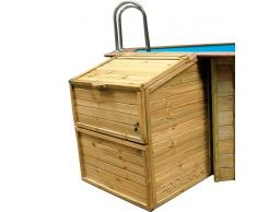 Piscinas Gre Caseta local técnico de madera Gre - Altura 133 cm