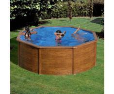 Piscinas Gre Piscina desmontable Gre Sicilia circular imitación madera - Ø 350