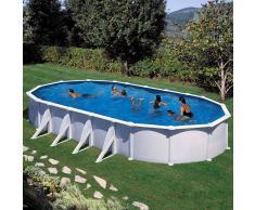 Piscinas Gre Piscina desmontable Gre Atlantis ovalada acero chapa blanca - 610 x 375