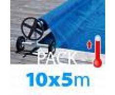 SCP POOL Pack manta térmica verano + enrollador piscinas 10x5 m
