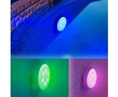 Piscinas Gre Foco proyector LED colores válvula retorno piscina Gre LEDRC