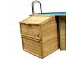Piscinas Gre Caseta local técnico de madera Gre - Altura 146 cm