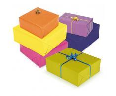 Papel kraft de regalo colores vivos