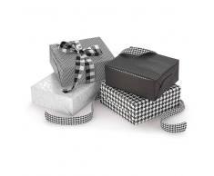 Blanco Papel de regalo blanco y negro