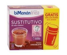 BiManán Sustitutivo de Comida 5 Sobres x 30 gr + Coctelera Sabor Choco & Latte