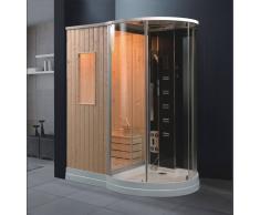 ECO-DE Cabina hidromasaje con Sauna MONACO 175x118x220 cm