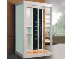 ECO-DE Cabina de Hidromasaje IMPERIAL Blanca 120x90x220 cm