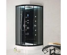 ECO-DE Cabina De Hidromasaje BLACK 100x100x225 Cm