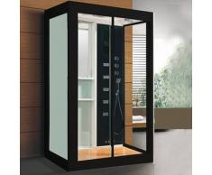 ECO-DE Cabina de Hidromasaje IMPERIAL Negra 120x90x220 cm