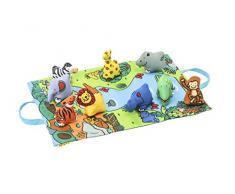Manta de suelo preescolar Tapete de juego para llevar con multiples actividades (Jungla)