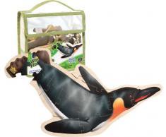 Wild Republic 84775 - Puzzle de suelo de madera motivo de pingüino [Importado de Alemania]