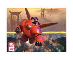 Big Hero 6 Baymax - mantel ROBOWABOHU GIGANTE Kindergeburtstag NUEVO robot superhéroe