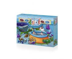 INTEX 57198NP - Piscina para niños Bambi, Azul/Blanco, 3.10 x 1.88 x 1.30 m