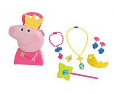 Jamara 410096 - Juego de joyero de 7 Piezas con maletín de Transporte Estable y manejable para Princesa, diseño de Peppa Pig, Color Rosa