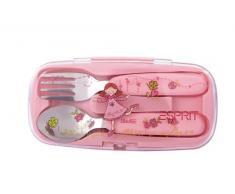 ESPRIT by sigikid 53458 Summer Love - Juego de cubiertos en color rosa [Importado de Alemania]