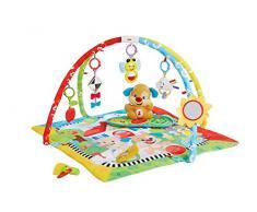 Fisher-Price Gimnasio aprendizaje de perrito, manta de juego bebé (Mattel FBD48)