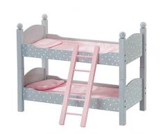 Olivias Little World - Polka Dots Princess 18, muebles de la muñeca, litera doble (Primary Products TD-0095AG)