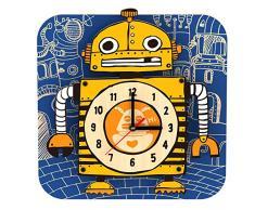 Robotime AC215 sterxy DIY Digital Kids/Dibujos Animados Robot Reloj de pared de madera