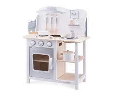 New Classic Toys 11053 Cocina y comida juguete de rol para niños - juguetes de rol para niños (Cocina y comida, 3 año(s), Niño, Chica, Plata, Blanco, Monótono)
