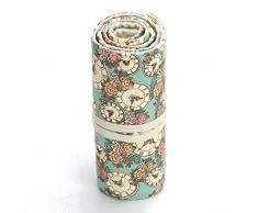 Katara 1786 Muelle de estuche con agujeros, lápices de funda, accesorios para artistas, Pencil Bag para Multicolor de lápices, rollo para Colegio, Oficina, Pintar, escribir, dibujar